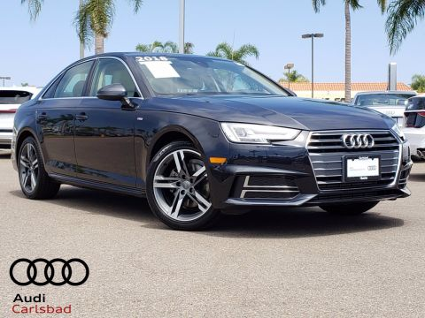 Certified Pre-Owned 2018 Audi A4 2.0T FrontTrak 4D Sedan